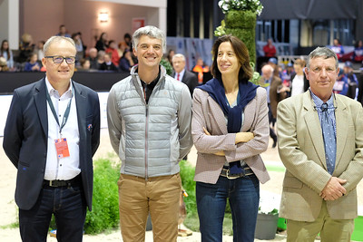 France, Bordeaux : Prize giving Ceremony with Karim Florent Laghouag during the derby Ponies Qui-Kids by Equithème of the Jumping International in Bordeaux, western France, on February 9th , 2019, in Bordeaux, France - Photo Christophe Bricot / CEB