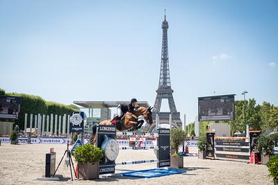 France, Paris : Kim Emmen riding Delvaux NED during the Longines Longines Global Champions Tour of Paris, on July 6th , 2019, in Paris, France - Photo Christophe Bricot