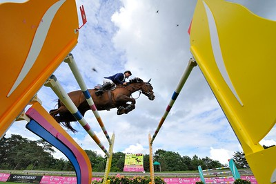 JUMPING : WINDSOR XV - NIKLAUS RUTSCHI - GRAND PRIX TROPICANA - CSI4* L'ETE DU GRAND PARQUET 2013 - PHOTO CHRISTOPHE BRICOT