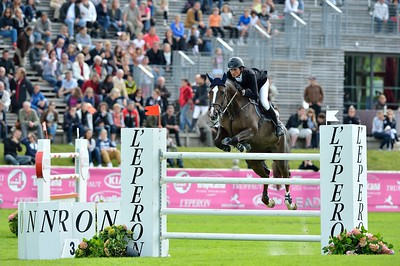 JUMPING : ZOE II - LORENZO DE LUCA  - GRAND PRIX TROPICANA - CSI4* L'ETE DU GRAND PARQUET 2013 - PHOTO CHRISTOPHE BRICOT