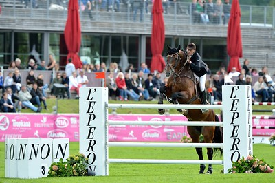 JUMPING : OHM DE PONTHUAL - JEROME HUREL - GRAND PRIX TROPICANA - CSI4* L'ETE DU GRAND PARQUET 2013 - PHOTO CHRISTOPHE BRICOT
