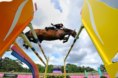 JUMPING : OLIDAY D'IRA - ALEXIS GAUTIER  - GRAND PRIX TROPICANA - CSI4* L'ETE DU GRAND PARQUET 2013 - PHOTO CHRISTOPHE BRICOT