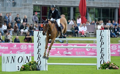JUMPING : EQUADOR VAN'T ROOSAKKER - FREDERIC DAVID - GRAND PRIX TROPICANA - CSI4* L'ETE DU GRAND PARQUET 2013 - PHOTO CHRISTOPHE BRICOT