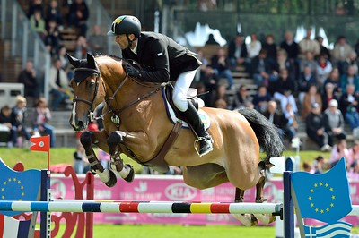 JUMPING : S I E C LEDGEPOINT - OLEG KRASYUK  - GRAND PRIX TROPICANA - CSI4* L'ETE DU GRAND PARQUET 2013 - PHOTO CHRISTOPHE BRICOT