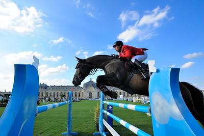 JUMPING : Hans Dieter DREHER sur Magnus Romeo remporte le Grand Prix - GRAND PRIX DU GLOBAL CHAMPIONS TOUR 2012 - SAUT D'OBSTACLES - CSI5* DE CHANTILLY 2012 - PHOTO : © CHRISTOPHE BRICOT