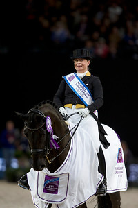 Paris, France : Isabell WERTH (GER) riding WEIHEGOLD OLD, World Champion, during the FEI World Cup Finals at the Accor Hotel Arena - Avril 11-15, on April 14, 2018, in Paris, France - Photo Christophe Bricot
