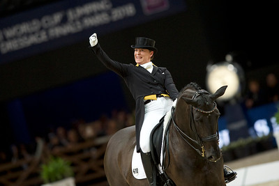 Paris, France : Isabell WERTH (GER) riding WEIHEGOLD OLD during the FEI World Cup Finals at the Accor Hotel Arena - Avril 11-15, on April 14, 2018, in Paris, France - Photo Christophe Bricot