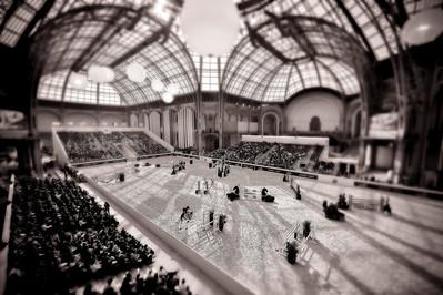 "PARIS, Grand Palais,  Vue d'ensemble large du Grand Palais - wide angle view -  during the ""Saut Hermès"" March 14-16th 2014 in the Grand Palais -  20140314 - Photo Christophe Bricot"