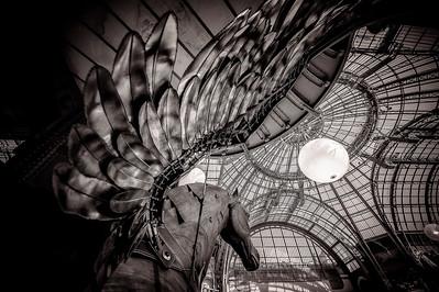 France, Paris :  statue of Pegasus during  the Saut Hermès show Jumping 2015, Grand-Palais  , on April 9th 2015 , Paris, France - Photo Christophe Bricot