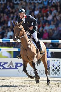 JUMPING : ROGER YVES BOST, CASTLE FORBES MYRTILLE PAULOIS _ FINALE INDIVIDUELLE - COMPETITION PAR EQUIPE,  Championnat d'Europe 2013 - HERNING , Danemark - 24/08/13 - PHOTO CHRISTOPHE BRICOT - www.bricotchristophe.com