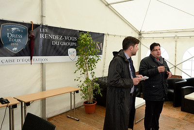 France, Compiègne : Meeting point for team leaders during FEI Nations Cup competition of the CDIO5* of Compiègne on May 22th , 2016, in Compiègne, France - Photo Christophe Bricot