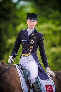 France, Compiègne :   Kathleen Keller (Germany) riding Desperados 29  during the Prix Arc of the CDI2* Dressage competition of the FEI CDIO5*, Compiègne on May 20th , 2016, in Compiègne, France - Photo Christophe Bricot