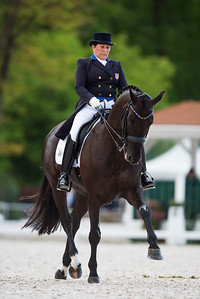 France, Compiègne : Shelly Francis (United States Of America) riding Danilo  during the Grand Prix Barriquand, CDI3*, Dressage competition of the FEI CDIO5* of Compiègne on May 19th , 2016, in Compiègne, France - Photo Christophe Bricot