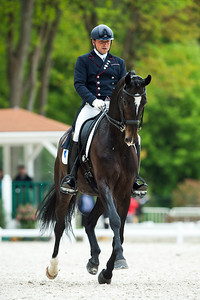 France, Compiègne :  Pierre Volla (France) riding Sir Piko  during the Prix Arc of the CDI2* Dressage competition of the FEI CDIO5*, Compiègne on May 20th , 2016, in Compiègne, France - Photo Christophe Bricot
