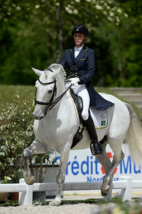 France, Compiègne :  Thaisa Tavares de Almeida riding Aoleo (Brazil)   during the Grand Prix Barriquand, CDI3*, Dressage competition of the FEI CDIO5* of Compiègne on May 19th , 2016, in Compiègne, France - Photo Christophe Bricot