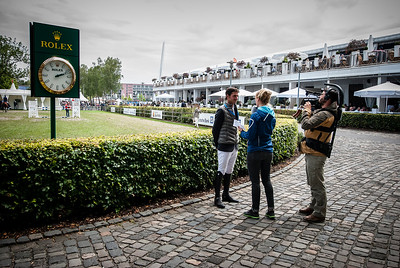 Germany, Aachen : Stave Guerdat, interview    during the CHIO of Aachen, World Equestrian Festival,  in July 15th , 2016, in Aachen, Germany - Photo Christophe Bricot