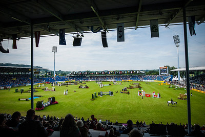 Germany, Aachen : wide angle view of the arena   during the CHIO of Aachen, World Equestrian Festival,  in July 15th , 2016, in Aachen, Germany - Photo Christophe Bricot