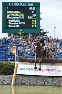 Germany, Aachen : Jonathan PAGET riding Clifton Signature during the CHIO of Aachen, World Equestrian Festival,  in July 16th , 2016, in Aachen, Germany - Photo Christophe Bricot