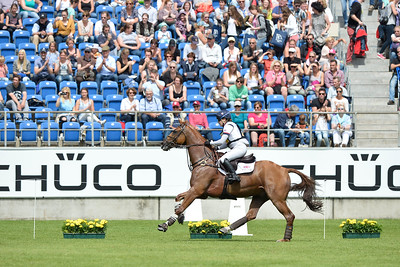 Germany, Aachen : Laura COLLETT riding Grand Manoeuvre during the CHIO of Aachen, World Equestrian Festival,  in July 16th , 2016, in Aachen, Germany - Photo Christophe Bricot