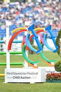 Germany, Aachen : Logo of Aachen during the CHIO of Aachen, World Equestrian Festival,  in July 16th , 2016, in Aachen, Germany - Photo Christophe Bricot