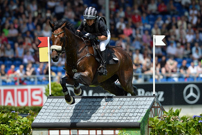 Germany, Aachen : Bettina HOY riding Seigneur Medicott during the CHIO of Aachen, World Equestrian Festival,  in July 16th , 2016, in Aachen, Germany - Photo Christophe Bricot