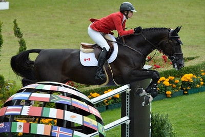Germany, Aachen : Tiffany FOSTER riding Tripple X III during the Rolex Grand Prix ,  CHIO of Aachen, World Equestrian Festival,  in July 17th , 2016, in Aachen, Germany - Photo Christophe Bricot