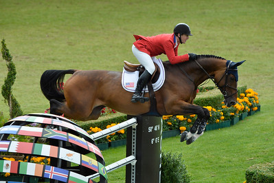 Germany, Aachen : McLain WARD riding HH Azur during the Rolex Grand Prix ,  CHIO of Aachen, World Equestrian Festival,  in July 17th , 2016, in Aachen, Germany - Photo Christophe Bricot