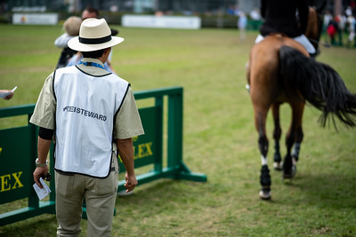 Germany, Aachen : Steward during the CHIO of Aachen, on July 19th , 2019, in Aachen, Germany - Photo Christophe Bricot