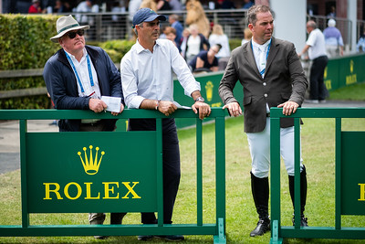 Germany, Aachen : -, Rodrigo Pessoa, Cian O'Connor during the CHIO of Aachen, on July 19th , 2019, in Aachen, Germany - Photo Christophe Bricot