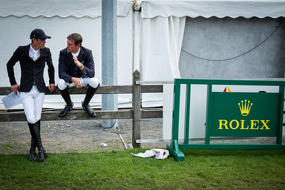 Germany, Aachen : Scott Brash and Darragh Kenny during the CHIO of Aachen, on July 19th , 2019, in Aachen, Germany - Photo Christophe Bricot