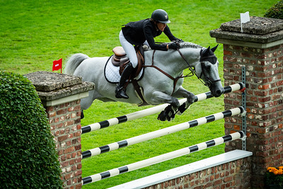 Germany, Aachen : Angelie VON ESSEN (SWE) riding DANIEL during the CHIO of Aachen, on July 18th , 2019, in Aachen, Germany - Photo Christophe Bricot