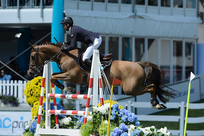 France, La Baule : Julien Epaillard riding Sheriff De La Nutria Lm  during the Derby, Derby des régions des Pays de la Loire, FEI Longines International Jumping of La Baule , on May {day th , {year4}, in La Baule, France - Photo Christophe Bricot