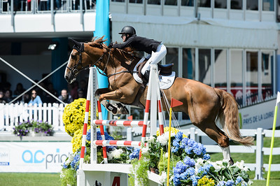 France, La Baule : Angelie Von Essen riding Bydalens Qamaieu De Montsec during the Derby, Derby des régions des Pays de la Loire, FEI Longines International Jumping of La Baule , on May {day th , {year4}, in La Baule, France - Photo Christophe Bricot