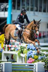 France, La Baule : Philippe Rozier riding Reveur De Kergane during the Derby, Derby des régions des Pays de la Loire, FEI Longines International Jumping of La Baule , on May {day th , {year4}, in La Baule, France - Photo Christophe Bricot