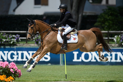 France, La Baule : Alexandra Paillot riding Tonio La Goutelle during the Derby, Derby des régions des Pays de la Loire, FEI Longines International Jumping of La Baule , on May {day th , {year4}, in La Baule, France - Photo Christophe Bricot