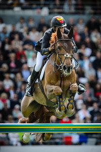 France, La Baule : Manuel Fernandez Saro riding U Watch riding Goja 27 during the FEI Nations Cup, Longines International Jumping of La Baule , on May 12th , 2017, in La Baule, France - Photo Christophe Bricot