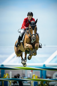 France, La Baule : Janne Friederike Meyer-Zimmermann riding Goja 27 during the FEI Nations Cup, Longines International Jumping of La Baule , on May 12th , 2017, in La Baule, France - Photo Christophe Bricot