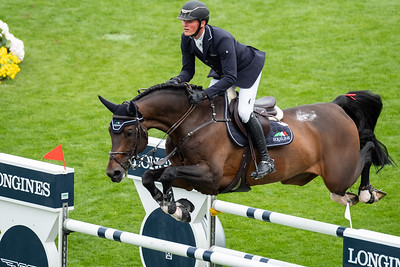France, La Baule : Maurice Tebbel riding Don Diarado the Longines FEI Jumping Nations Cup™ de France-La Baule, on May 16th , 2019, in La Baule, France - Photo Christophe Bricot