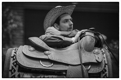 France, Chassieu :  Western saddle during the reining International Competition of Equita Lyon, on October 29th , 2016, in Chassieu, France - Photo Christophe Bricot