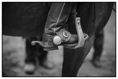 France, Chassieu :  Cowboy boots during the reining International Competition of Equita Lyon, on October 29th , 2016, in Chassieu, France - Photo Christophe Bricot