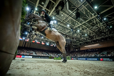 France, Lyon : Marcus EHNING (GER) riding Cristy during Equita'Masters competition, Equita Lyon, on November 4 , 2017, in Lyon, France - Photo Christophe Bricot