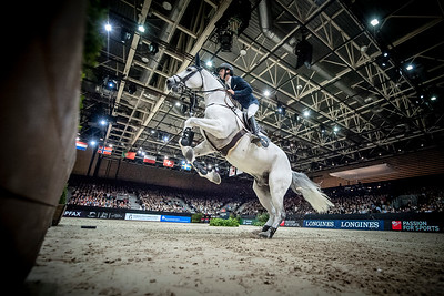 France, Lyon : Bertram ALLEN (IRL) riding Gin Chin van het Lindenhof during Equita'Masters competition, Equita Lyon, on November 4 , 2017, in Lyon, France - Photo Christophe Bricot