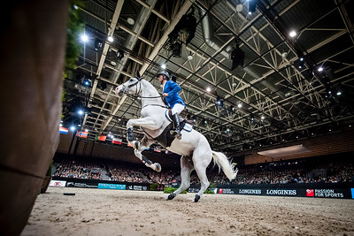 France, Lyon : Christian AHLMANN (GER) riding Colorit during Equita'Masters competition, Equita Lyon, on November 4 , 2017, in Lyon, France - Photo Christophe Bricot