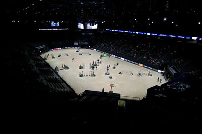 Paris, France : overview of the arena during the FEI World Cup Finals at the Accor Hotel Arena - Avril 11-15, on April 12, 2018, in Paris, France - Photo Christophe Bricot