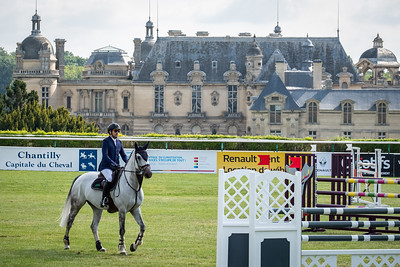 France, Chantilly : Guillaume Canet riding Wouest de Cantraie Z during the Longines Longines Global Champions Tour of Chantilly, on July 13th , 2019, in Chantilly, France - Photo Christophe Bricot