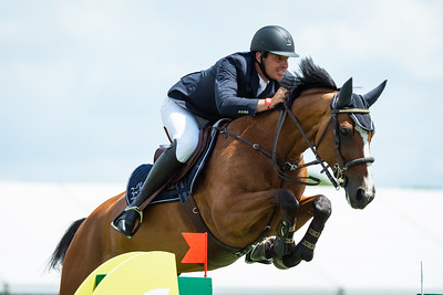 France, Chantilly : Christophe Vanderhasselt riding Identity Vitseroel during the Longines Longines Global Champions Tour of Chantilly, on July 13th , 2019, in Chantilly, France - Photo Christophe Bricot