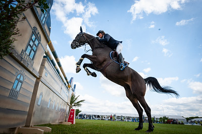 France, Chantilly : Luis Sabino Gonçalves riding Acheo di San Patrignano during the Longines Longines Global Champions Tour of Chantilly, on July 13th , 2019, in Chantilly, France - Photo Christophe Bricot