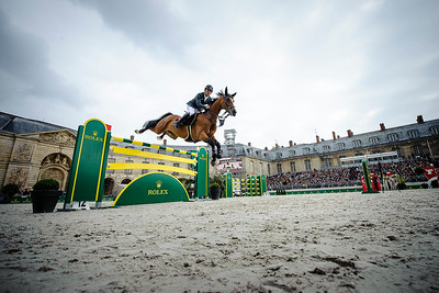 France, Versailles : Sergio ALVAREZ MOYA riding ARRAYAN during the Versailles Castle Show Jumping at the stables of the kings, on May 7th , 2017, in Versailles, France - Photo Christophe Bricot