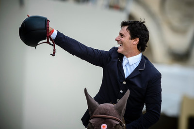 France, Versailles : Pedro VENISS riding QUABRI DE L ISLE during the Versailles Castle Show Jumping at the stables of the kings, on May 7th , 2017, in Versailles, France - Photo Christophe Bricot