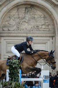 France, Versailles : Lauren HOUGH riding OHLALA during the Versailles Castle Show Jumping at the stables of the kings, on May 7th , 2017, in Versailles, France - Photo Christophe Bricot